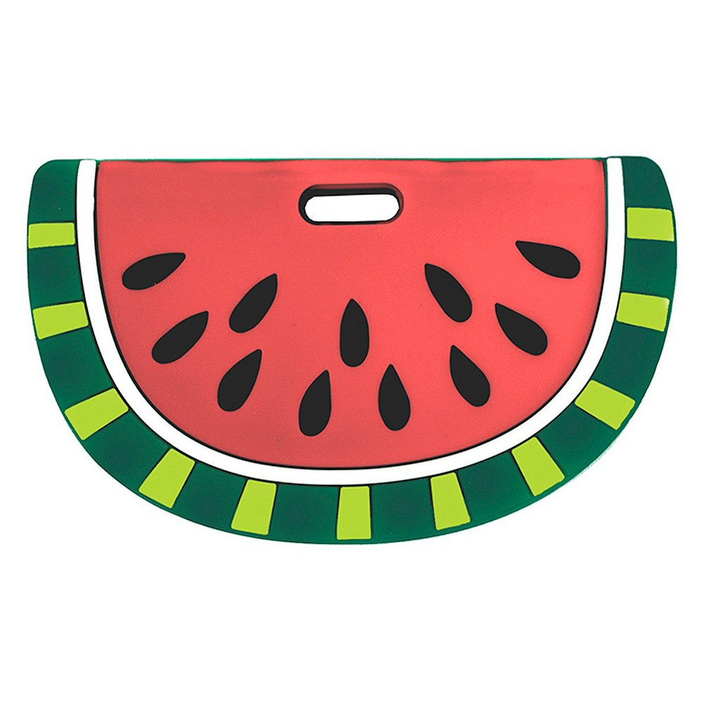 Image of Silli Chews Silicone Watermelon Baby Teether - Red/Green