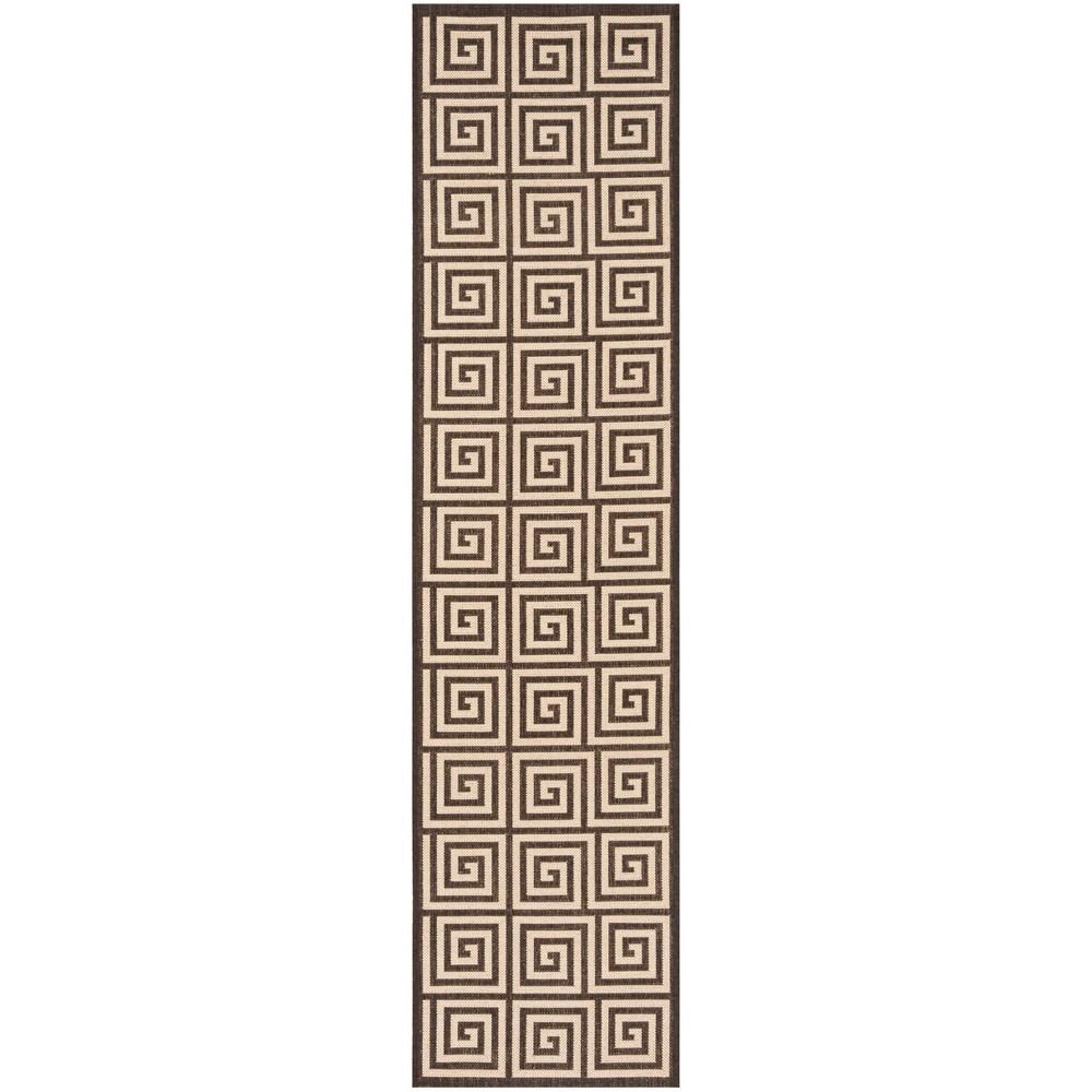 2X8 Geometric Loomed Runner Cream/Brown - Safavieh Cheap