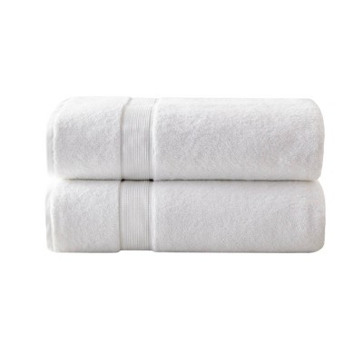 2pc Cotton Bath Sheet Set White