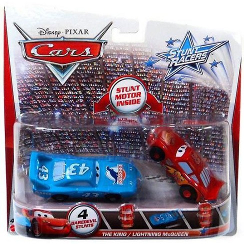 Disney / Pixar Cars Stunt Racers The King and Lightning McQueen Plastic Car 2-Pack - image 1 of 1