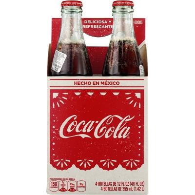 Coca-Cola de Mexico - 4pk/12 fl oz Glass Bottles