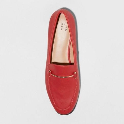 6ec009bbb1f4 Women s Perry Wide Width Loafers - A New Day™ Red 7W   Target