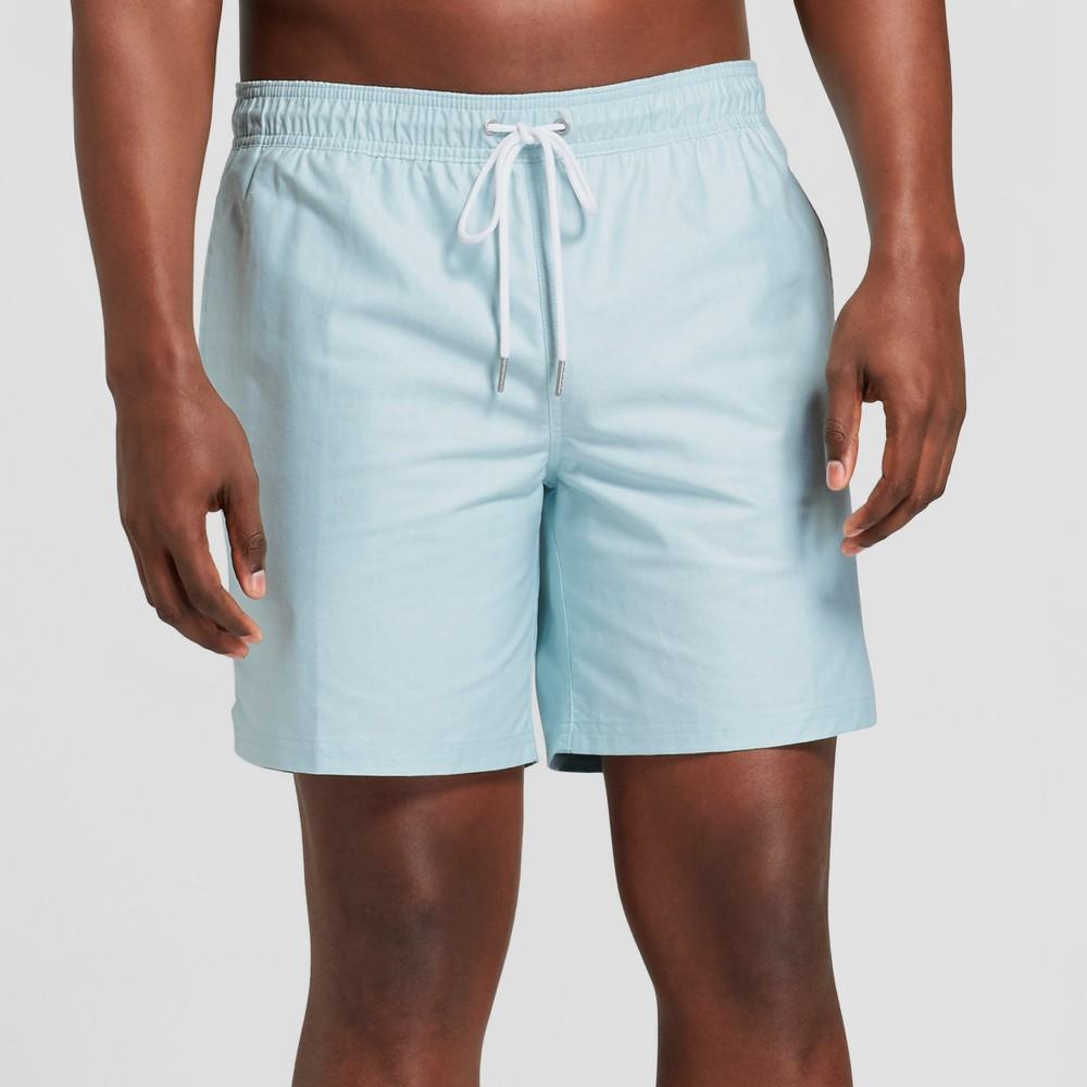 Men's 7 Ocean Chambray Swim Trunks - Goodfellow & Co Ocean Blue Xxl