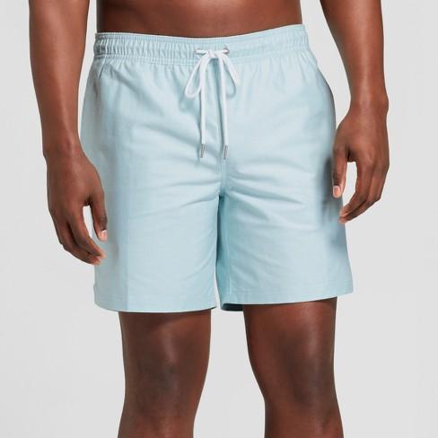 """Men's 7"""" Ocean Chambray Swim Trunks - Goodfellow & Co™ Ocean Blue S - image 1 of 3"""