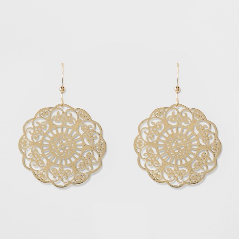 Drop Filigree Earrings A New Day Gold