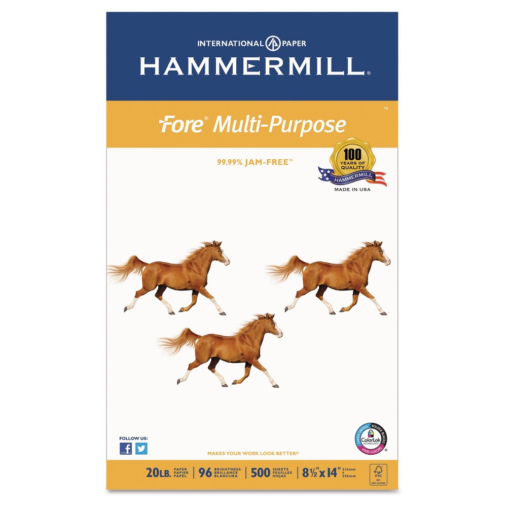 "Image of ""Hammermill ̈ Paper, 8.5"""" X 14"""", 500 Ct - White"""