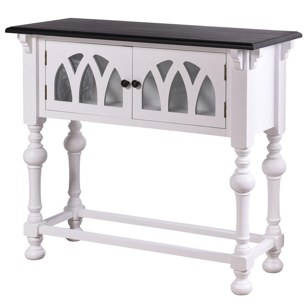 Church St 2 Door Wooden Console Table White - StyleCraft