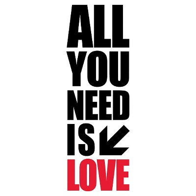 All you Need Wall Decal -Black