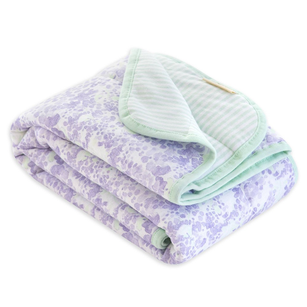 Burt 39 S Bees Baby 174 Organic Reversible Jersey Knit Blanket Lost In Lilac