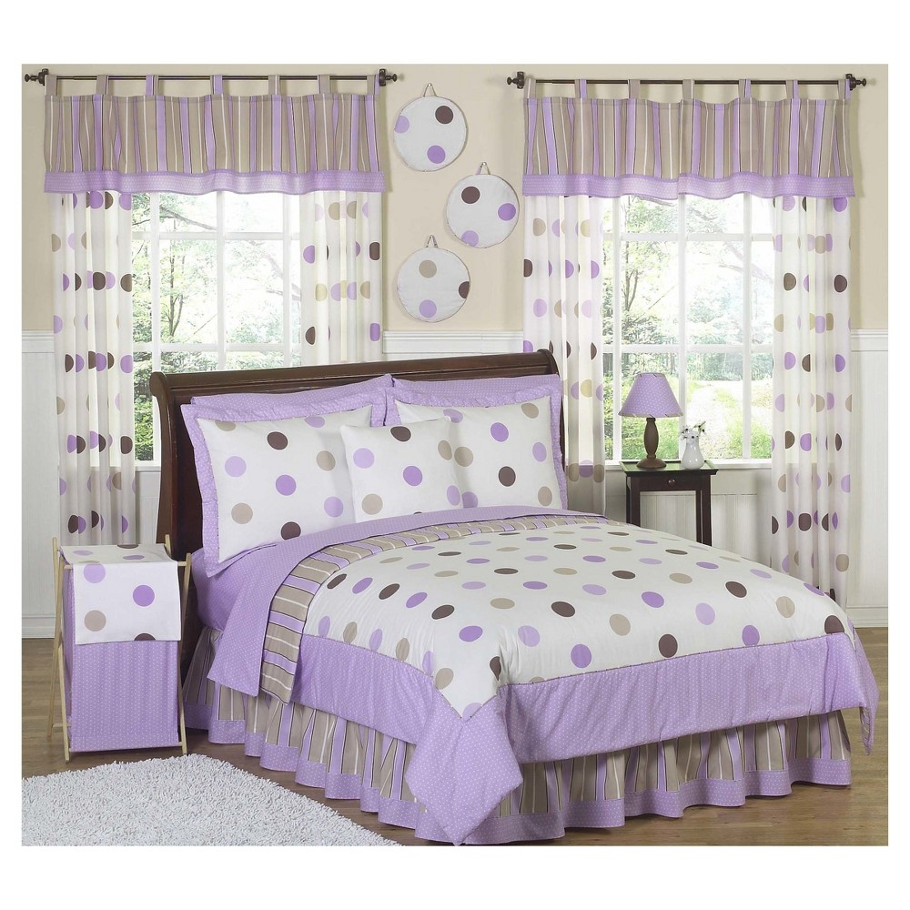 Best Review Purple Chocolate Mod Dots Comforter Set FullQueen Sweet Jojo Designs