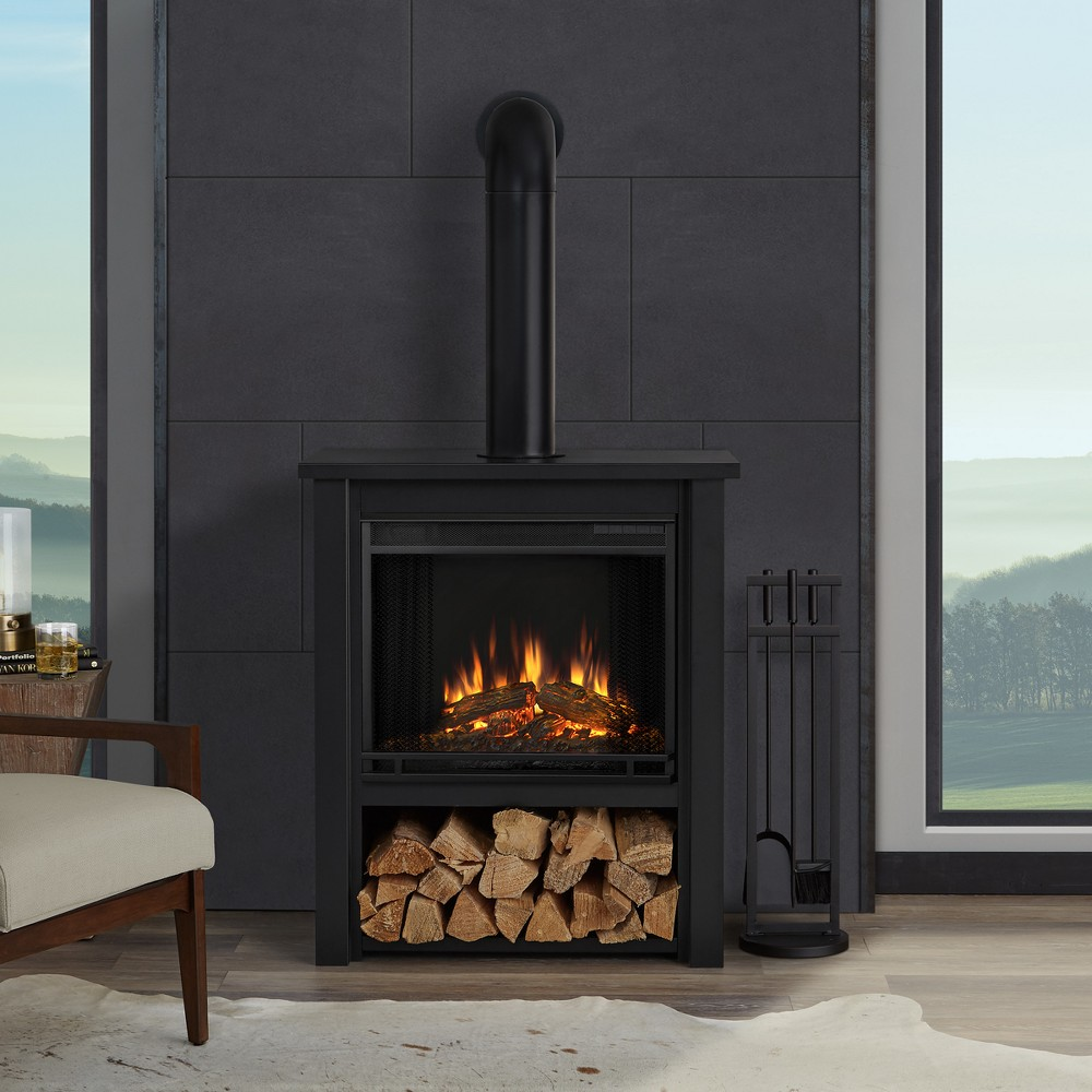 Real Flame Hollis Indoor Electric Fireplace - Matte Black