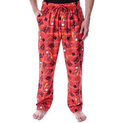 Disney Men's Mulan Mushu the Chinese Dragon Allover Character Pajama Pants
