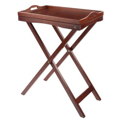 Devon Butler Table with Serving Tray Wood/Walnut - Winsome