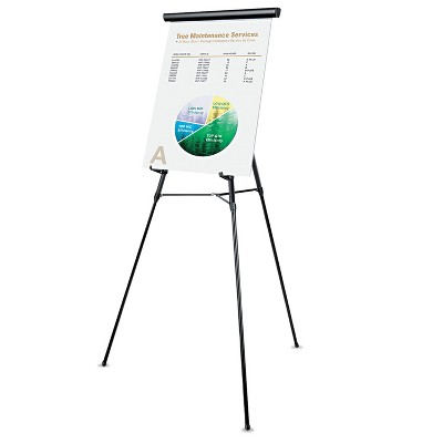 """UNIVERSAL 3-Leg Telescoping Easel with Pad Retainer Adjusts 34"""" to 64"""" Aluminum Black 43150"""