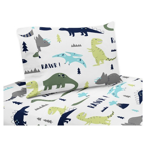 Dinosaur Sheet Set (Queen) - Sweet Jojo Designs - image 1 of 1