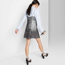 Women's Sleeveless Square Neck Mini Shift Dress - Wild Fable™ Silver