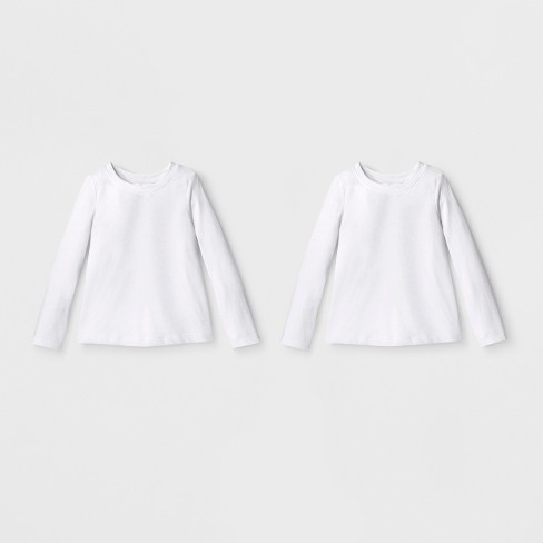 a2a359203 Toddler Girls  2pk Long Sleeve T-Shirt Set - Cat   Jack™ White   Target