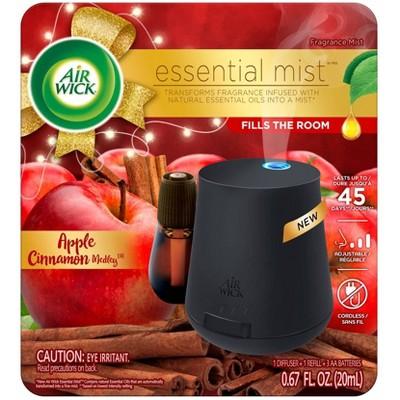 Air Wick Essential Mist Starter Kit Free Refill Air Freshener - Apple Cinnamon Medley - 0.67 fl oz