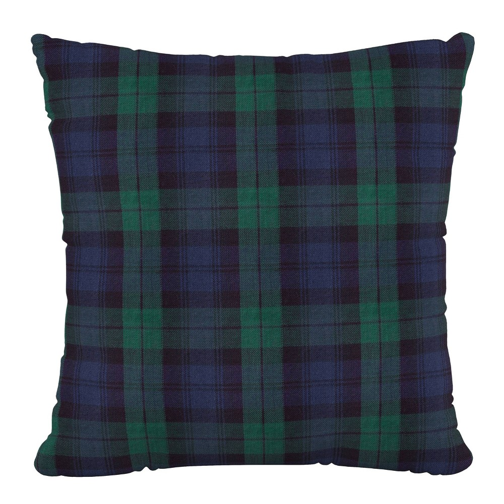 "Image of ""18""""X18""""Polyester Square Pillow in Blackwatch - Skyline Furniture"""