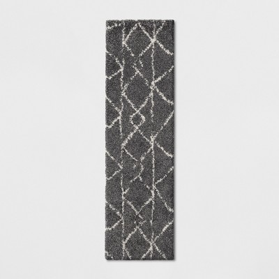 2'X7' Tribal Design Woven Accent Rugs Gray - Project 62™