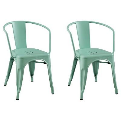 Carlisle Metal Dining Chair   Mint Green (Set Of 2) : Target