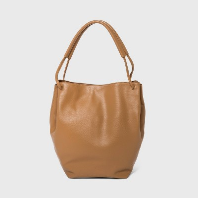 Magnetic Closure Shoulder Handbag - A New Day™ Taupe
