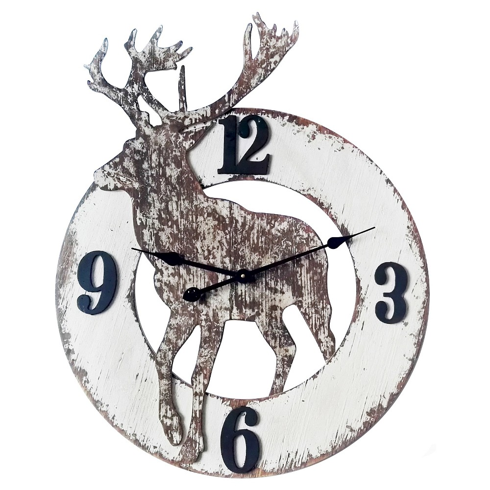 The Northern Wall Clock Distressed White - Infinity Instruments