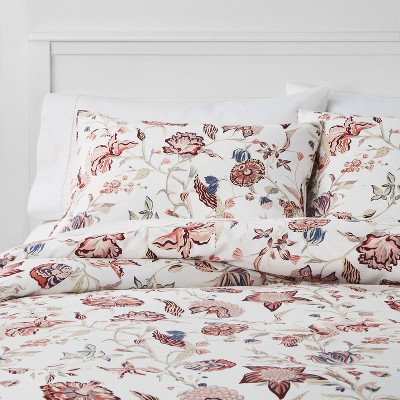 Floral Printed Family Friendly Duvet Cover & Sham Set - Threshold™