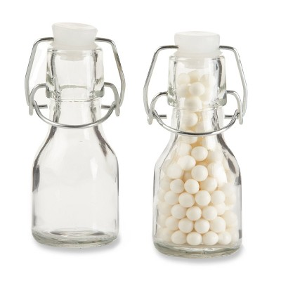 12ct Mini Glass Favor Bottle with Swing Top
