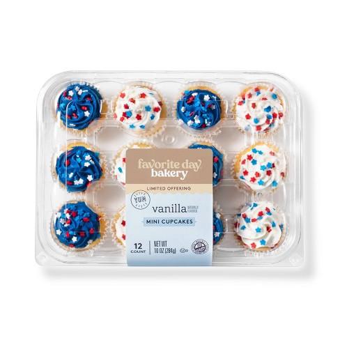 Patriotic Vanilla Mini Cupcakes - 12ct - Favorite Day™ - image 1 of 3