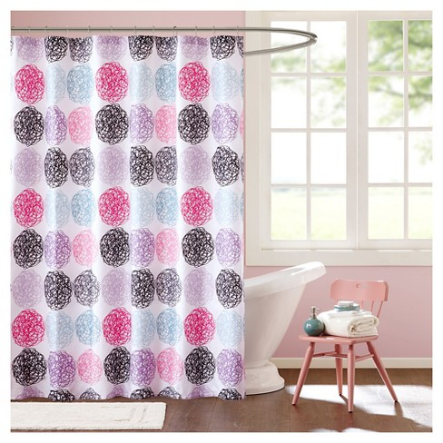 Circle Shower Curtain Pink Purple Target