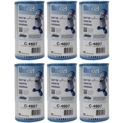 6) Unicel C-4607 Coleco Krystal Klear Intex A or C Replacement Filter Cartridges