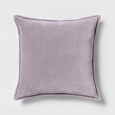 Velvet Square Throw Pillow Lavender - Threshold™