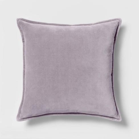 Velvet Square Throw Pillow Lavender - Threshold™ - image 1 of 3