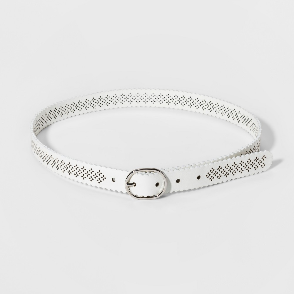 Women's Perf Belts - A New Day White M