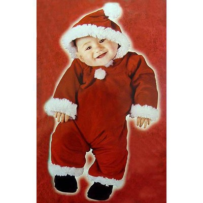 Fun World Red and White Santa's Little Helper Infant Christmas Costume - Small