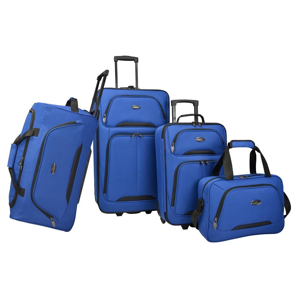 Image of U.S. Traveler 4pc Luggage Set - Blue