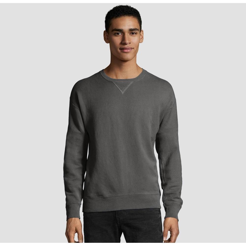 Hanes Men S Comfort Wash Fleece Sweatshirt Railroad Gray Heather S