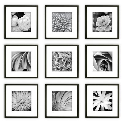 Gallery Perfect 9 Piece Wall Frame Set - Black