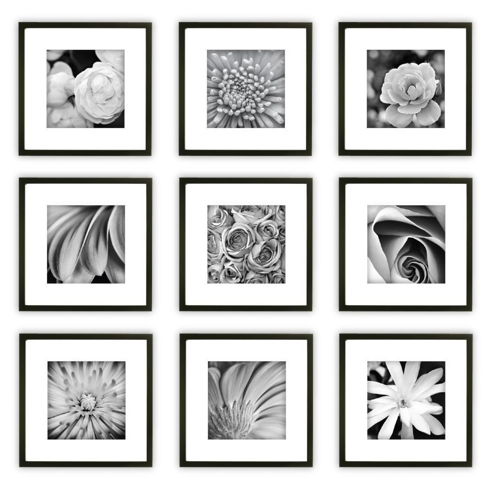 Image of Gallery Perfect 9 Piece Wall Frame Set - Black
