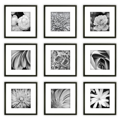 Gallery Perfect 9 Piece Wall Frame Set - Black - image 1 of 7