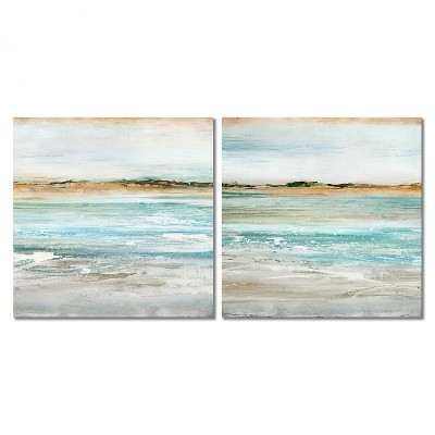 Americanflat Retrospective By Pi Creative Art 2 Piece Canvas Print Set 16 X16 Target