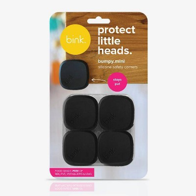 Bink Bumpy Silicone Safety Corners - Black 4pk