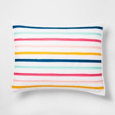 Ruffle Stripe Pillow Sham (Standard)- Pillowfort™