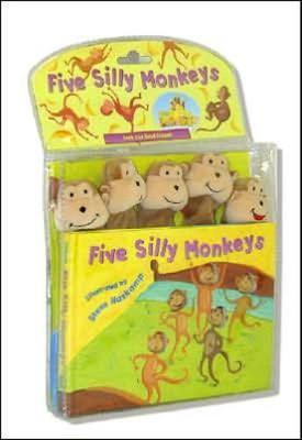 FIVE SILLY MONKEYS W HAND PUPPET (Hardcover)(Steve Haskamp)