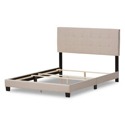 Brookfield Modern And Contemporary Fabric Upholstered Grid - Tufting Bed - Queen - Baxton Studio : Target
