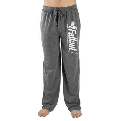 Fallout Video Game Logo Mens Grey Lounge Wear Sleep Pants