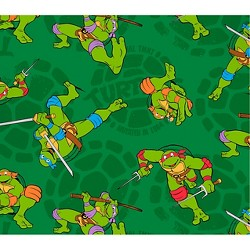 "TMNT Mutated In 1984, Green, 100% Cotton, 43/44"" Width, Fabric by the Yard"