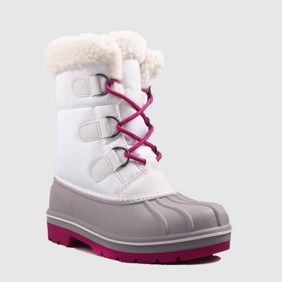 Girls' Roma Winter Boots - Cat & Jack™ White 1