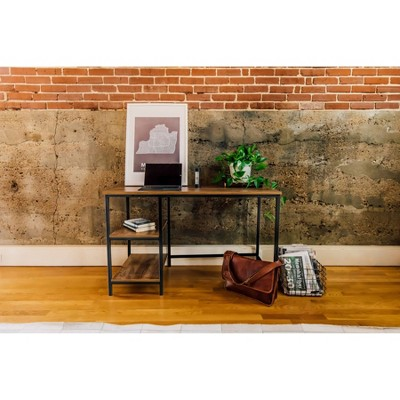 2 Shelf Camden Computer Desk Classic Oak - OneSpace